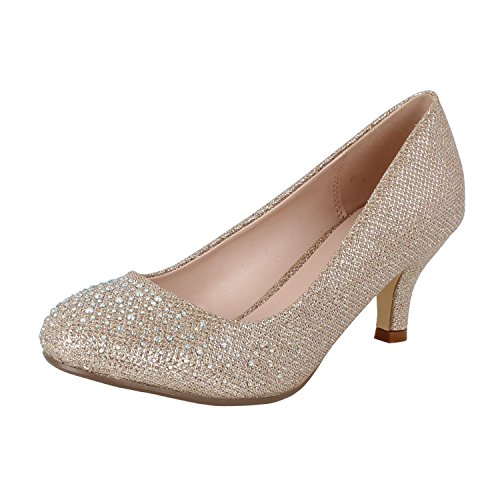 Bonnibel Wonda-1 Womens Round Toe Low Heel Glitter Slip On Dress -