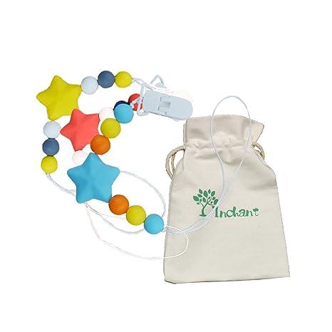 INCHANT 3 Pack de silicona bebé chupete clip - Chupete ...