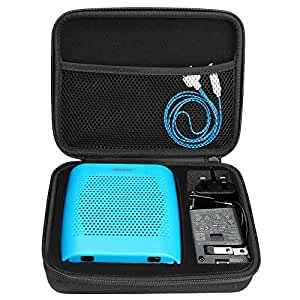 BOVKE for Bose Soundlink Color II Wireless Bluetooth Speaker Hard EVA Shockproof Carrying Case Storage Travel Case Bag Protective Pouch Box, Black