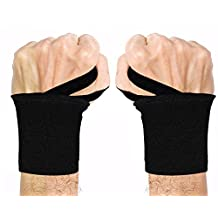 "Wrist Wraps,OBOSOE18"" Professional Grade Wrist Support Braces with Thumb Loops for Men & Women -Avoid Injury during Weight Lifting, Xfit,Powerlifting,Strength Training,Lifting Straps Bundle"