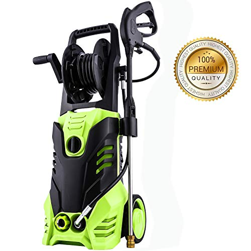 ncient NIS4500 High Pressure Power Washer 3000 PSI Electric Pressure Washer,1800W Rolling Wheels High Pressure Professional Washer Cleaner Machine+ (5) Nozzle Adapter (3000 PSI-Upgrade Model)