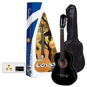 Tenson Almeria  F502096 - Pack guitarra clásica 3/4, color negro