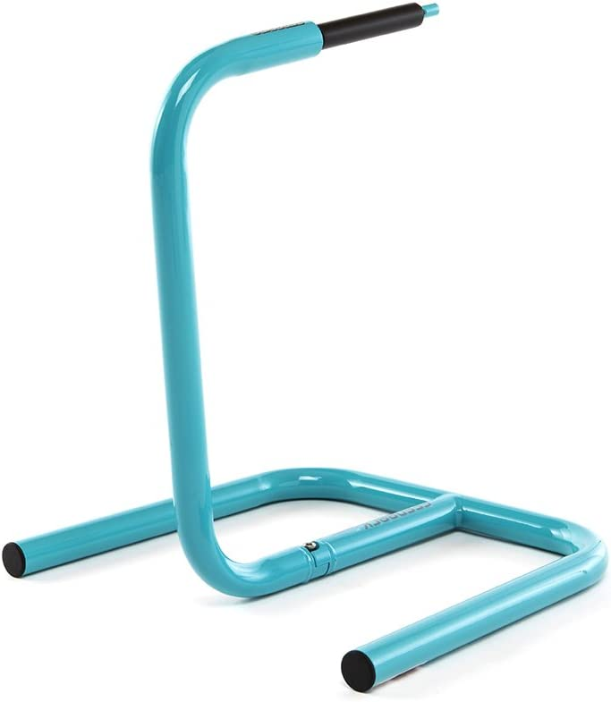 Feedback Sports Scorpion Moto-Style Bike Stand Turquoise 2 Piece