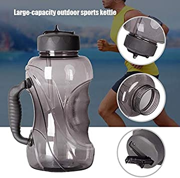 Syfinee Water Bottle 1.5L Water Cup Large Capacity Sports Gym Half Gallon Training Camping Running Sports Bottle Outdoor Straw Water Bottle with Handle