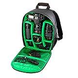 Camera Backpack, Paymenow Waterproof DSLR SLR Camera Bag Video Padded Backpack for Nikon,Canon, Sony, Olympus, Samsung, Panasonic, Pentax Cameras(Green)