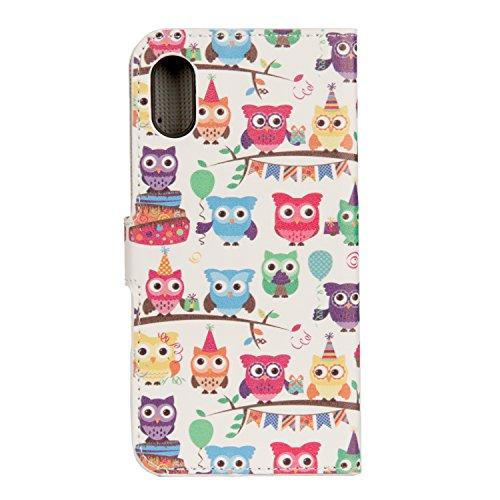 Coque iPhone X,Beaucoup d'animaux Portefeuille Fermoir Magnétique Supporter Flip Téléphone Protection Housse Case Étui Pour Apple iPhone X / iPhone 10 (2017) 5.8 Pouce + Deux cadeau