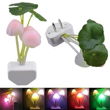 Night Lights For Kids Rooms | New Colorful Romantic LED Mushroom Dream  Night Light Bed Lamp