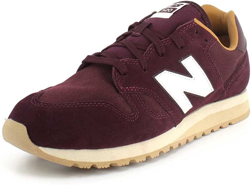 New Balance 520, Zapatillas para Hombre, Rojo (Burgundy/Brown Sugar Blue), 42 EU: Amazon.es: Zapatos y complementos