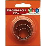 Lot de 3 minis emporte-pièces cercles en Inox alimentaire, petits ronds diam 2,3,4 cm