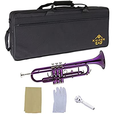 kaizer-trumpet-bb-b-flat-purple-includes