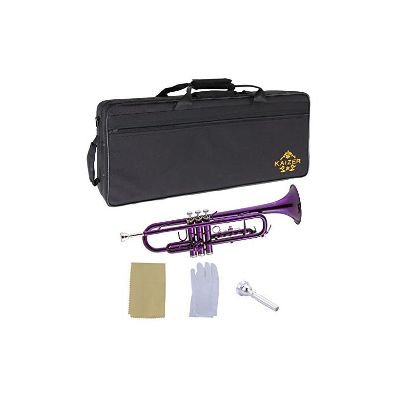 Kaizer Trumpet Bb B Flat Purple Includes