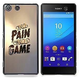 Queen Pattern - FOR Sony Xperia M5 - No Pain No Game Gold Pc Gaming - Cubierta del caso de impacto con el patr???¡¯???€????€?????n Art Desi