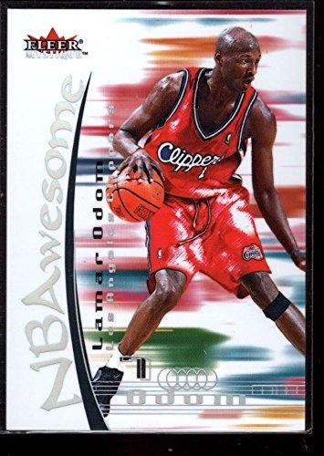 LAMAR ODOM LAKERS MINT NBAWESOME INSERT CARD RC SP 2000-01 FLEER MYSTIQUE #6 GEM