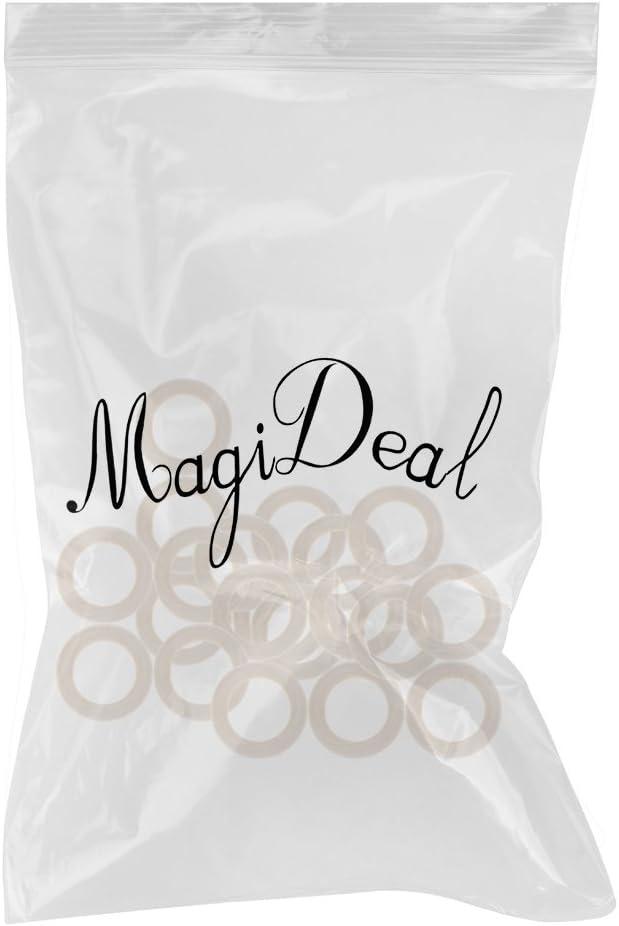 MagiDeal 20pcs Anneau Dent en Teether en Bois Naturel pour B/éb/é 45mm
