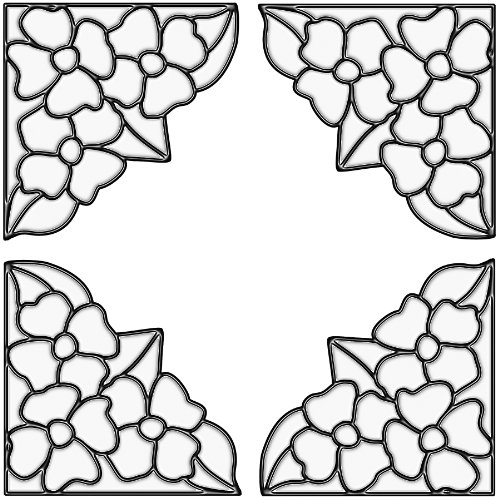 - Brewster 99770 Peel & Stick Pansy Stained Glass Corner Appliqués, Clear, 4-Count