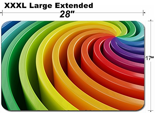 MSD Large Table Mat Non-Slip Natural Rubber Desk Pads Image ID 30118897 3D Render of Colorful Wallpaper Background