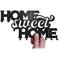 Sleutelrekje Sweet Home voor aan de Muur (Rek met 10 Haken) Decoratief, Metalen Sleutelhanger voor Voordeur, Keuken, of…