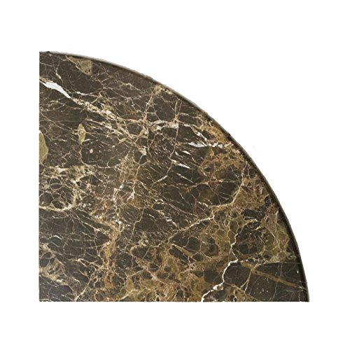 Emperador Dark Marble Accessory, EDMT9SHE, 9''X9''X3/4'' Corner Shelf, Both Sides Polished ((Two Pieces)) by Mosaic Warehouse