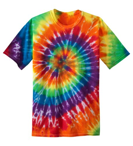 Koloa Surf Co. Youth Colorful Tie-Dye T-Shirt , Youth Small, Rainbow color -