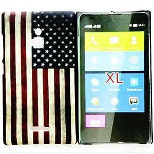 CHSH cáscara duro de plástico Cover para Nokia XL retro US bandera América NO.10