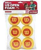 Wilson US Open Starter Foam Balls Pack of 6 (Yellow/Red)