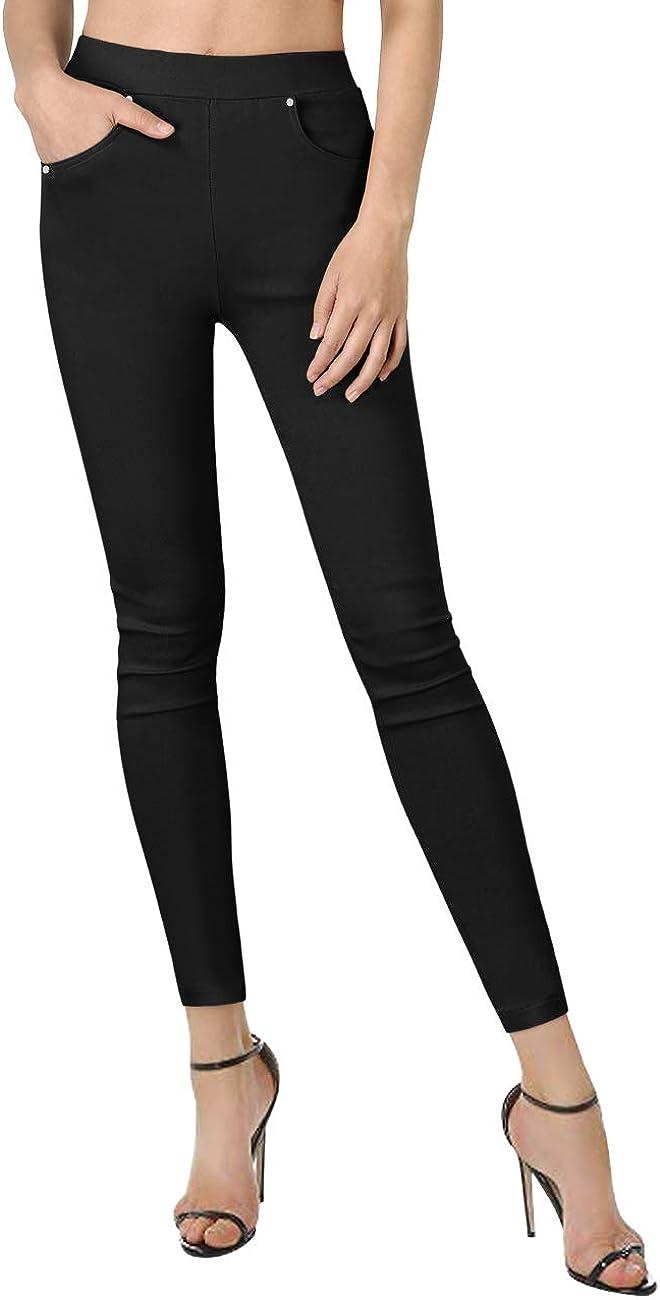 Yesfashion Womens Stretch Slim Skinny Pants Straight Twill Pants Trousers