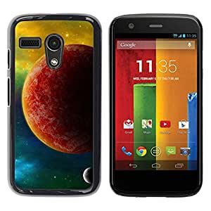 LECELL -- Funda protectora / Cubierta / Piel For Motorola Moto G 1 1ST Gen I X1032 -- The Red Planet --