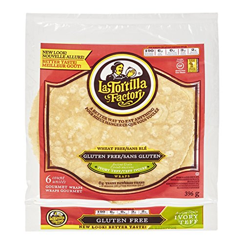 La Tortilla Factory Gluten Free Ivory Teff Wraps, 6 ct