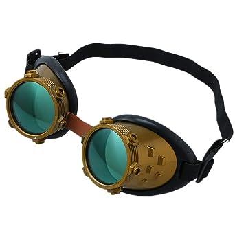 Vovotrade Gafas de Protección, Seguridad Vendimia Victoriano Steampunk Gafas Soldadura Ciber Punk Gótico tuercas de