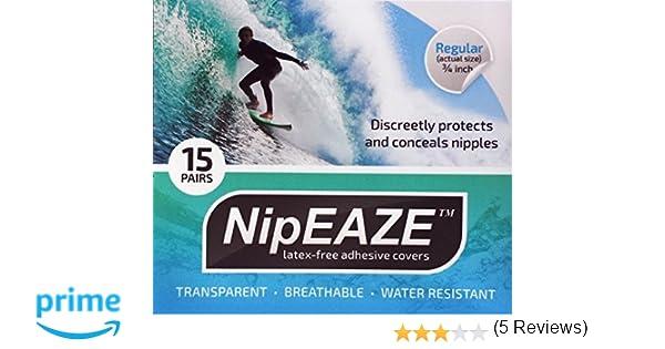 db6a6b8b NipEaze - el Original Transparente Nip Pantalla - Tetina Chafing Prevención  - Ultra-Marathon Running Gear: Amazon.es: Deportes y aire libre