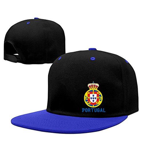 Price comparison product image Custom Unisex-Adult Portugal Soccer Champion Flat Billed Trucker Hats RoyalBlue