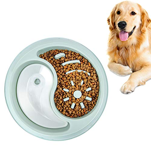 YIYUN Slow Feeder Dog Bowls Fun Feeder Non Slip Interactive Bloat Stop Dog Bowl Preventing Choking Slow Feeder Bowl Perfect for Large Medium Small Pet Dogs