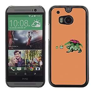 CASER CASES / HTC One M8 / Funny P0Kemon / Delgado Negro Plástico caso cubierta Shell Armor Funda Case Cover