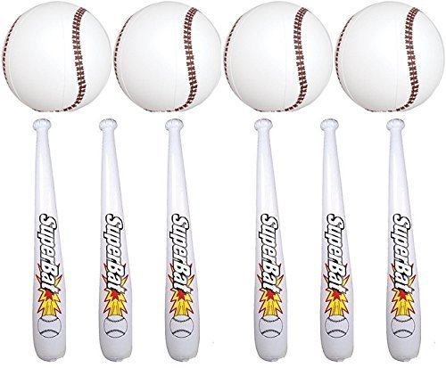 INFLATABLE BASEBALL BATS AND BASEBALLS