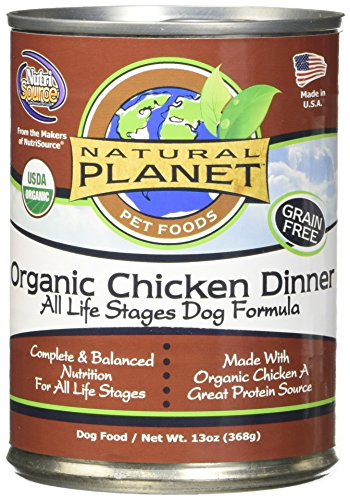 Natural Planet Organics Chicken Wet Dog Food (13-oz, case of 12)