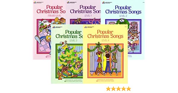 popular christmas songs 5 book set bastien piano basics james bastien amazoncom books - Popular Christmas Songs