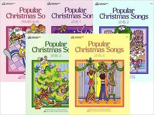 popular christmas songs 5 book set bastien piano basics