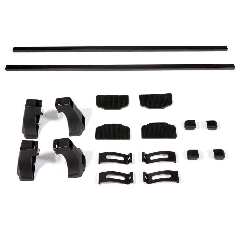 AUTOMUTO Adjustable 54 Cross Bars fit for 2002 2006-2007 2011 2015-2016 Ford F-150,2000 2004-2005 2008-2009 Ford F-250 Aluminum Black Roof Top Bar Luggage Carrier