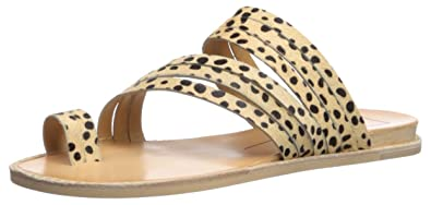 045f5df9194 Dolce Vita Women s Nelly Flat Sandal Leopard Calf Hair 5 ...