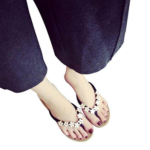 Cotone Donna Unita Tinta Sandali Piatti da promozione con Infradito Sandali Modello in da Nero Estate Sandalo Infradito Donna da Grande Chenang con qOUBFF