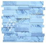 Box 10 Tiles Illusion 3d Brick White Carrara Marble Mosaic Tile 12''x12'' PERUGIA-ST011 (10)