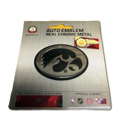 Patch Collection Iowa Hawkeyes Premium Solid Metal Chrome Plated Car Auto Emblem