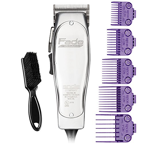 Andis Professional Fade Master Hair Clipper with Adjustable Fade Blade with a Andis Master Dual Magnet 5-Comb Set with a BeauWis Blade Brush by Andis