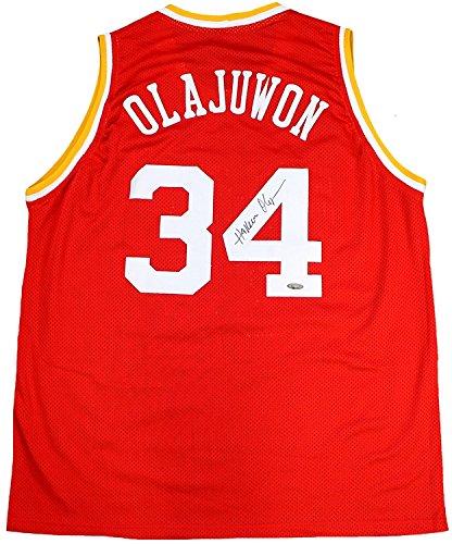 Hakeem Olajuwon Signed Autographed Houston Rockets Custom Jersey TRISTAR COA
