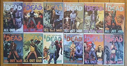 "The Walking Dead ""ALL OUT WAR"" Complete Story Arc Issues #115 through 126"