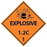 DL43AP National Marker Dot Shipping Labels, Explosive 1.2C, 4 Inches x 4 Inches, Ps Vinyl, 25/pk (Pack of 25)