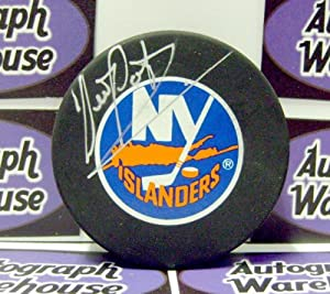 Autograph Warehouse 1821 Denis Potvin Autographed Hockey Puck New York Islanders