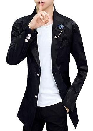 Amazon.com: CuteRose - Abrigo para hombre, formal, ajustado ...