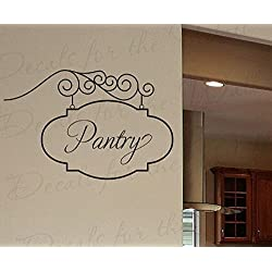 Wall Decal Letters Pantry Sign -Large Vinyl Sticker Kitchen Art Graphic Mural Bedroom Decor