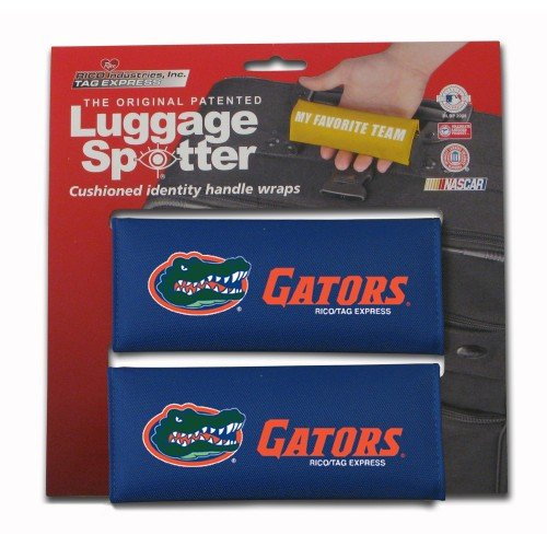 Luggage Spotter FLORIDA GATORS Handle Grip/Luggage Grip/Travel Bag Tag/Handle Wrap (2 PACK) – LICENSE EXPIRING! THEY ARE SELLING OUT FAST! by Luggage Spotter